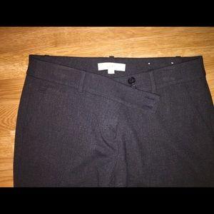 Loft Gray Trouser Pants Women's Size 8 Like New
